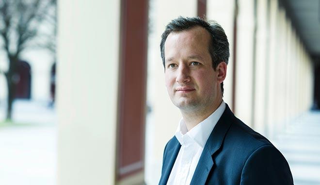 Moritz von der Heydte, Direktor Artcurial Deutschland, wird die Auktion der Kunstauktionen durchführen. Fotocredit: Hubertus Hamm