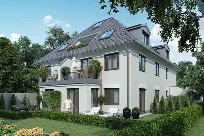 Acht Eigentumswohnungen entstehen im Stadtvillenensemble Scheibmeierstraße von RS Wohnbau - Bauträger München