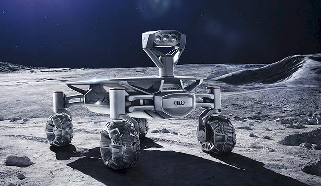 Ende 2017 wird der Audi Luna quattro auf dem Mond fahren. Fotocredit: Audi AG