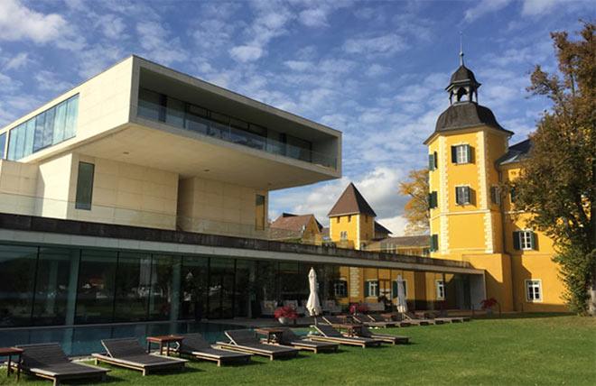Über dem Acquapura-Spa befindet sich im Neubau mit 300qm die größte Suite im Schlosshotel