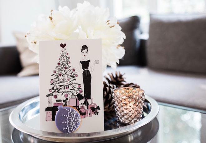 Hier versteckt sich der Keks unterm Weihnachtsbaum! Tolle Idee für besondere Weihnachtsgrußkarten!