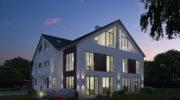 Neue Einfamilienhäuser in Pullach: Jetzt sind Trio-Häuser 'en vogue'
