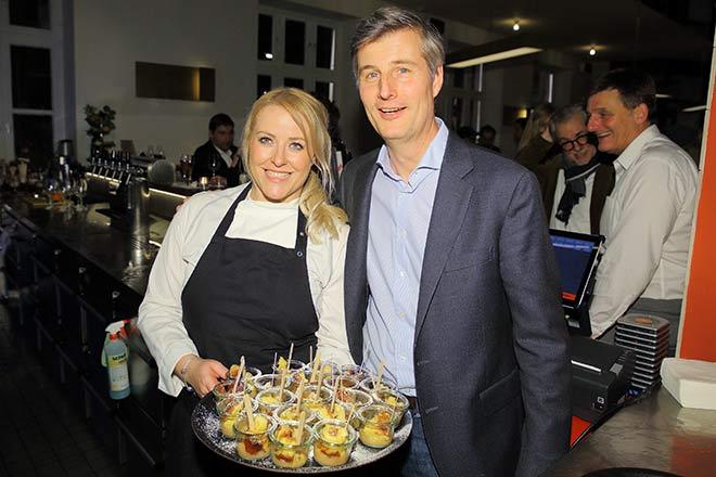 HeimWerk-Küchenchefin Alexandra Kuhl mit HeimWerk-CEO Archibald Graf von Keyserlingk. Fotocredit: Stefan Obermaier
