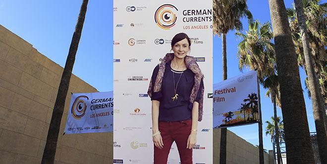 Exklusiv-München Autorin Susanne Lettner bei dem Filmfestival German Currents in Los Angeles.