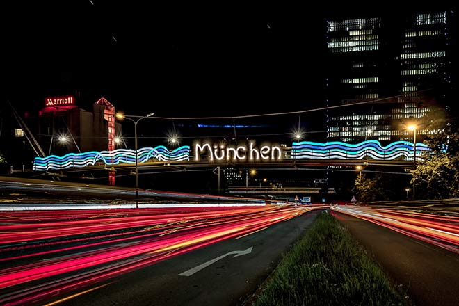 Auch München zählt zu den Smart Light Cities. Fotocredit: Guerilla Lighting