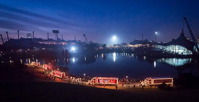 Coca Cola Weihnachtstour im Olympiapark