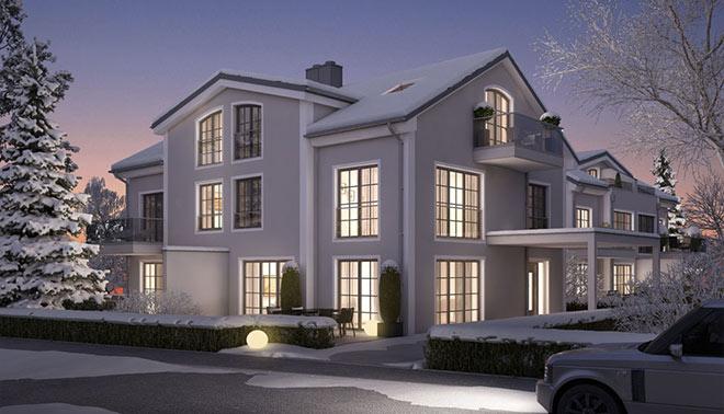 Zwei neue Doppelhäuser PURE4 entstehen in Waldtrudering