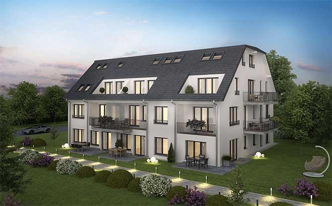 In der Schneebergstraße 26 in Trudering entstehen klassische 2- bis 5-Zimmer-Wohnungen. Fotocredit: neubaukompass