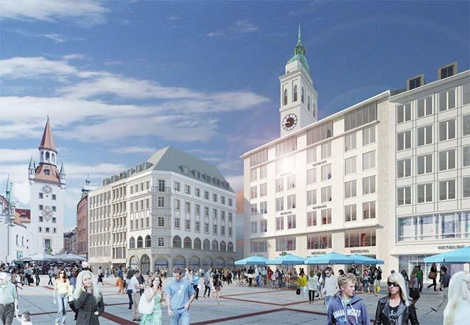 So sieht der Architekt der Bayerischen Hausbau Münchens neues Gebäude