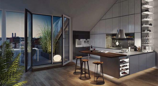 Nicht nur zwei uneinsehbare Dachterrassen machen diese Penthouse-Wohnung zu einer Rarität.