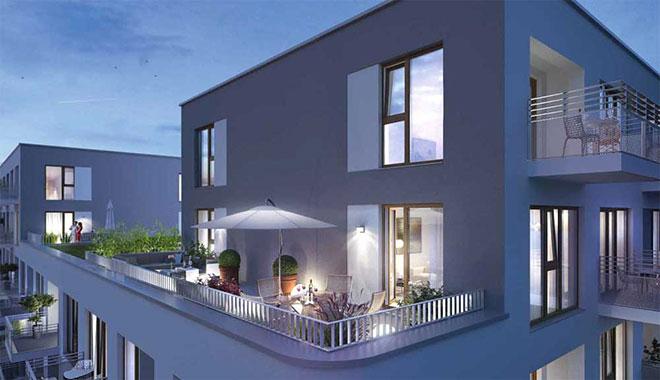 Pandion Penta mit Wohnungen mit Gartenanteil bis Dachterrasse