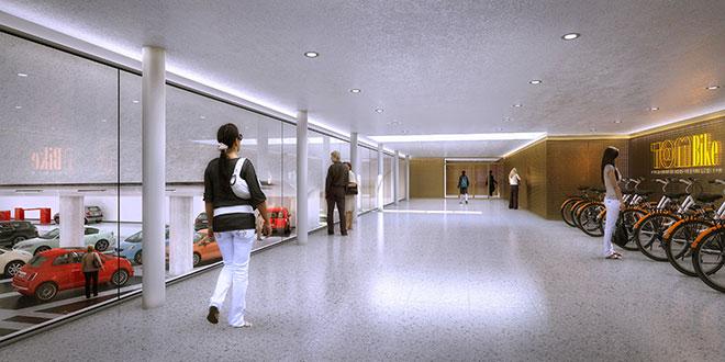 Hier parkt man gerne im Underground! Tiefgarage Fotocredit: Wöhr + Bauer