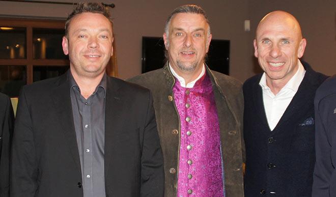 Björn Becker, Christof Langer und Jörg Löhr am 14. März 2017 in Golfclub Gut Thailing