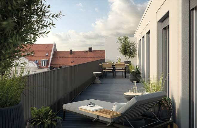 Die Creme de la Creme dieses Neubaus: Die Penthouse Wohnungen!