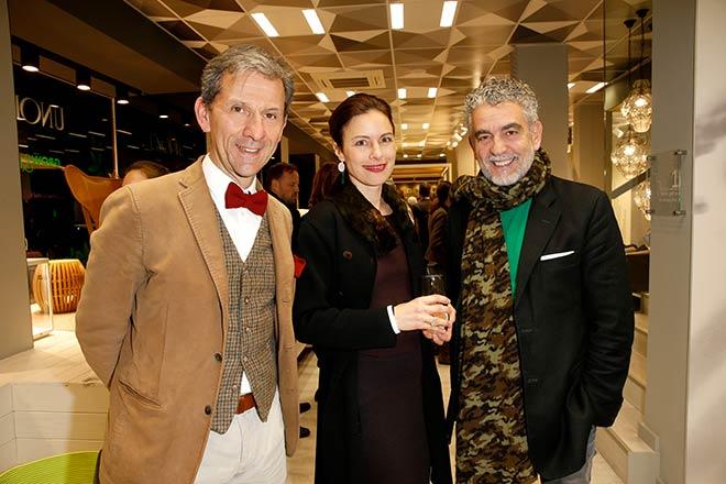 Unopiu CEO Maurizio Motta freute sich über Mario Gamba mit Frau.