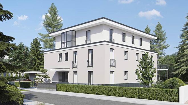 Immobilien Solln: Fünf Wohnungen entstehen in diesem Neubau