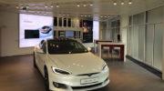 Tesla eröffnet neuen Store in Grünwald