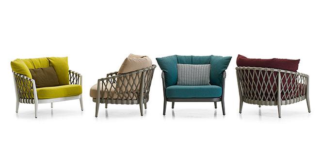 Auch perfekte Terrassenmöbel: Outdoor Sessel 'Erica' von B&B Italia