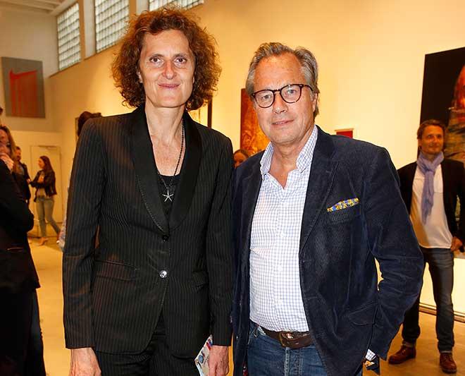 Innegrit Volkhardt mit Verleger Henrik teNeues. Fotocredit: Dominik Bindl