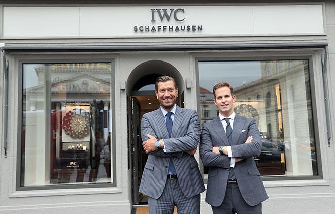 Christoph Grainger-Herr (CEO von IWC Schaffhausen) und Henrik Ekdahl (IWC Managing Director Richemont Northern Europe)