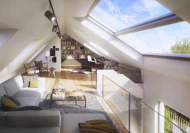 Dem Himmel ganz nah: Galeriewohnungen sind von jeher etwas Besonderes. Fotocredit: neubaukompass.de