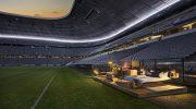 Ein Bett in der Allianz Arena