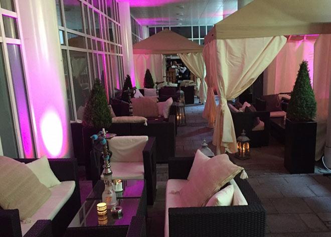 Temporäre Shisha Bar im Marriott München Hotel