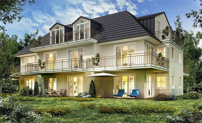 Die EHB Komfortbau realisiert im Münchner Süden in Solln einen Mehrfamilien-Villa mit 8 Eigentumswohnungen. Fotocredit: neubaukompass.de