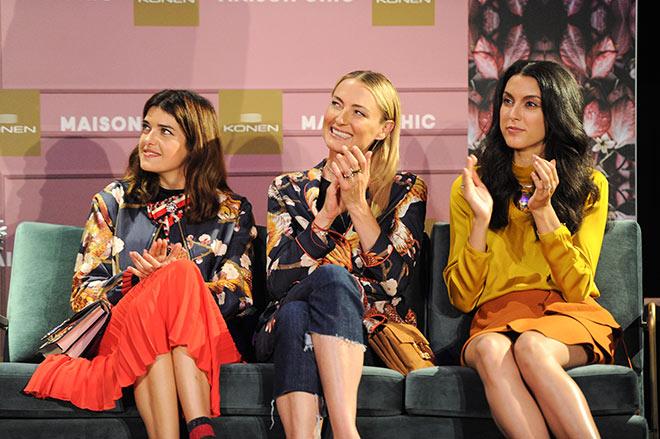 Auf dem Konen Fashion Show Catwalk: Model Marie Nasemann (li.), Lilly zu Sayn-Wittgenstein (Mitte) und Rebecca Mir. Fotorcedit: G. Nitschke, BrauerPhotos