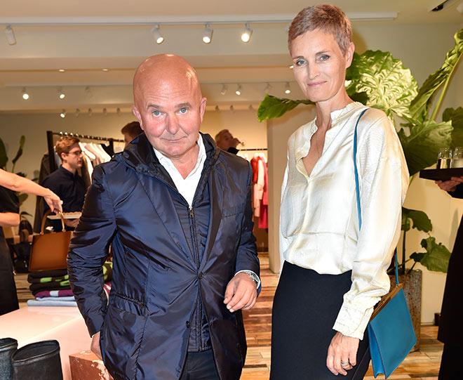 Kunstsammler Karen und Christian Boros sind seltene Gäste in München. Celine Boutique Opening in der Maximilianstrasse Foto: Sabine Brauer v. BrauerPhotos
