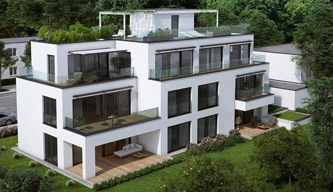 Design-Immobilie aus der Sicht des Illustrators. Fotocredit: neubaukompass.de
