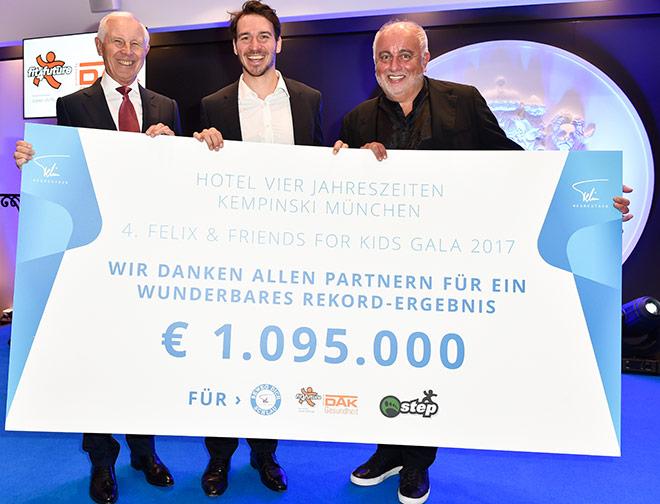 Hans Dieter Cleven mit Felix Neureuther und Lübenoff. Fotocredit: BrauerPhotos
