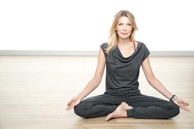 Ursula Karven hat wieder eine Yogakollektion designt. Dieses Mal für Aldi. Fotocredit: Aldi Süd