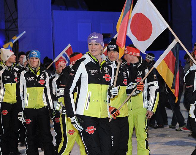 Letzte dt. Siegerin 2010 Maria Höfl-Riesch in Garmisch. Fotocredit: Wolfgang Breiteneicher, SchneiderPress