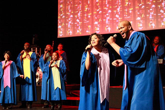 Original USA Gospel Singers im Gasteig. Fotocredit: Frank Serr Showservice Int.