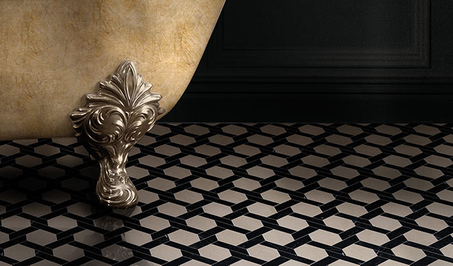 Diese Mosaikböden machen jeden Badezimmer-Boden zum Schmuckstück. Fotocredit: Devon&Devon
