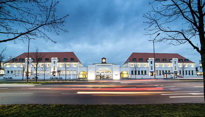 Eine der schönsten Fassaden Münchens: Das Gebäude der BMW Group. Fotocredit: Gudrun Muschalla