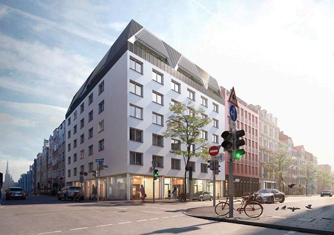 Immobilienmarkt München: In der Schillerstrasse 30 hat wieder Dr. Than Immobilien die Finger im Spiel. Fotocredit: neubaukompass.de