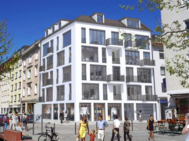 14 neue Eigentumswohnungen entstehen hier in der Maxvorstadt. Fotocredit: neubaukompass.de