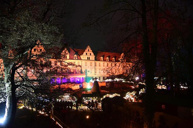 Blick zum Champagner Pavillon @Weihnachtsmarkt Regensburg Thurn und Taxis