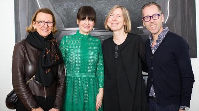 Dorothee Wahl (PIN-Vorstand, Dr. Sonja Lechner, Dr. Angelika Nollert (Die Neue Sammlung), Dr. Roger Diederen (Kunsthalle Muenchen). Fotocredit: Alexa von Arnim