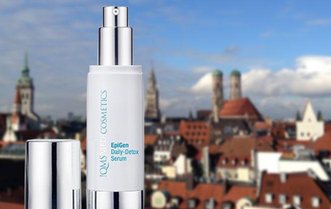 Neueste Produkt aus dem Hause QMS: EpiGen Daily-Detox Serum. 'Die Haut-Regeneration ist das neue Thema für die Kosmetik-Branche', weiß Dr. med. Erich Schulte, welcher vor über 20 Jahren einen der ersten Dr. Brands Deutschlands gegründet hat.