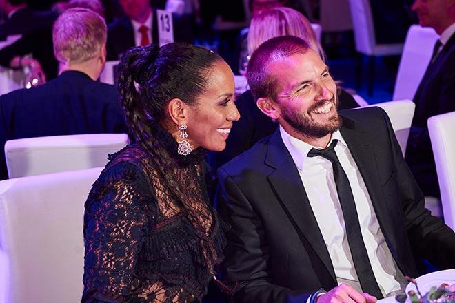 Barbara Becker kam mit ihrem neuen Freund zum Ingorgenta Award in München . Fotocredit: Frommel Fotodesign / Messe München