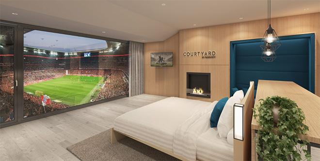 Übernachten in der Allianz Arena oder ein Spiel direkt aus dem Bett anschauen? FC Bayern macht es gemeinsam mit Marriott möglich!