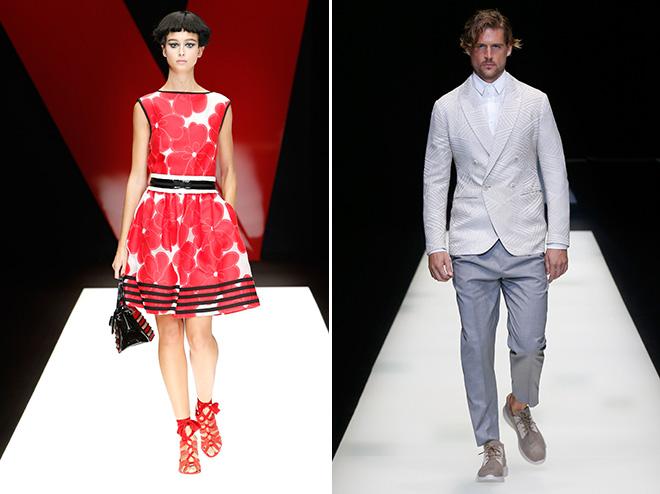 Diese Looks gibt es jetzt im Giorgio Armani Store: Streetstyle-Charakter und Coolness zeigen auch die Model-Frisuren.