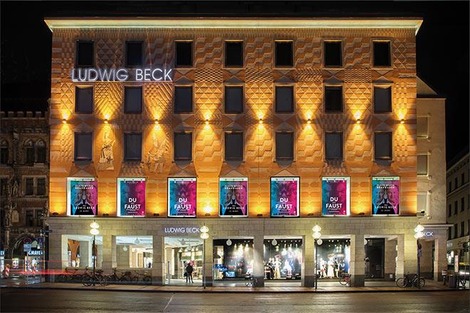 Spiegelinstallation LUDWIG BECK - Kaufhaus der Sinne 23. Februar bis 14. April 2018, Marienplatz, München - Fotocredit: Nick Hunger