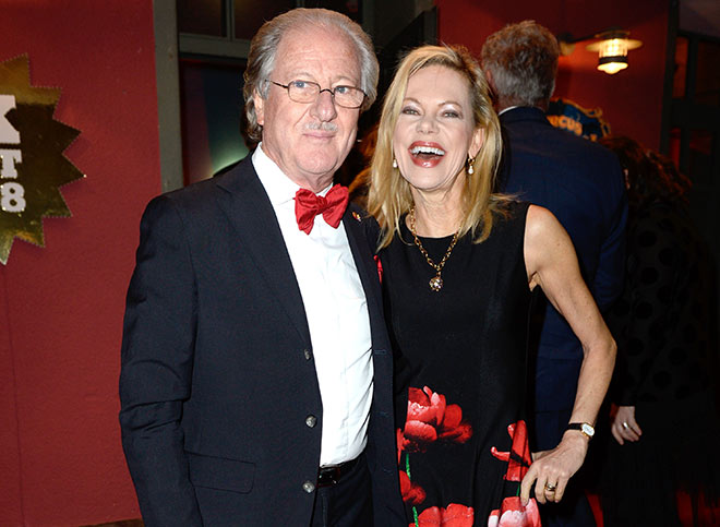 Unternehmer Wolfgang Reitzle mit Frau Nina Ruge. Fotocredit: Frank Rollitz, SchneiderPress