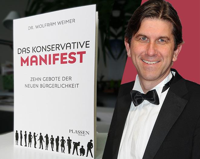 Gerade erschienen: Das konserative Manifest von Dr. Wolfram Weimer. 112 Seiten, erschienen im Plassen Verlag, 9,99 €