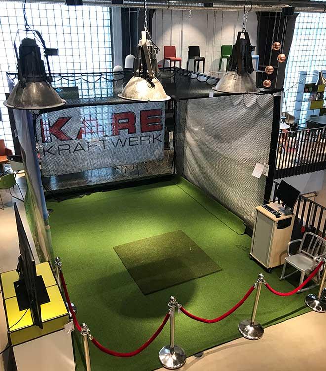 Golfsimulator im Kare Kraftwerk