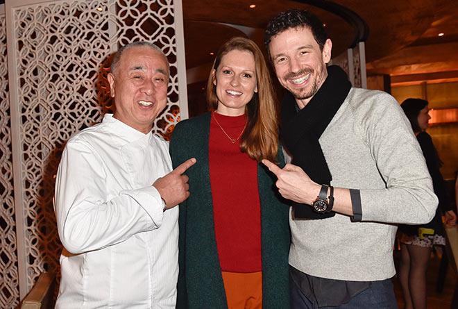 Nobu mit Familie Oliver Berben im Gourmetrestaurant Matsuhisa. Fotocredit: BrauerPhotos